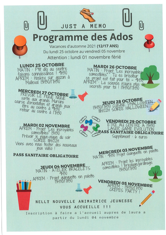 programmes ados
